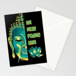Om Mani Padme Hum Buddha Face Buddhist Mantra Stationery Cards