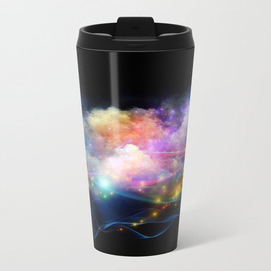 Space Clouds Metal Travel Mug