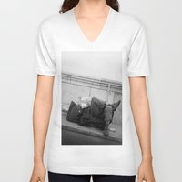 chill V-neck T-shirts featuring chill by dominiknawrocki