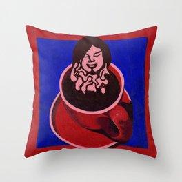 Black Coffee IV Throw Pillow