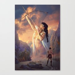 The Goddess & The Barbarian Canvas Print