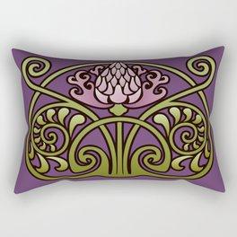 Nouveau Thistle Rectangular Pillow
