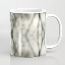 Abstract Branch Mood- Black & White Tie Dye - Natural Neutral Pattern Coffee Mug