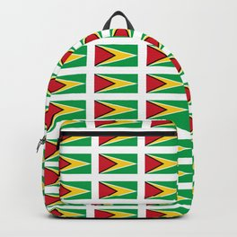 Flag of Guyana -Guyanese,Guyanes,Georgetown,Linden,Waiwai Backpack