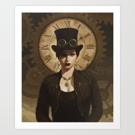 Mechanism, Steampunk Pin-Up Art Print