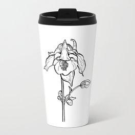 Garden Flower Ink Drawing  Travel Mug
