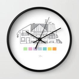 Biblioteca y pantone Wall Clock