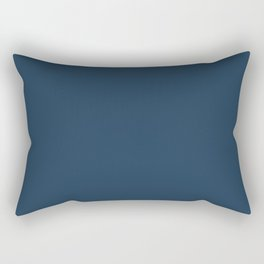 Pratt and Lambert 2019 Noir Dark Blue 24-16 Solid Color Rectangular Pillow