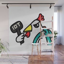 tyler duck with hammer Wall Mural