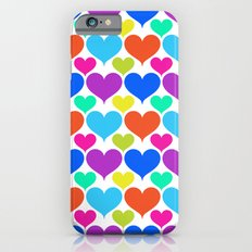 Bright hearts iPhone 6s Slim Case