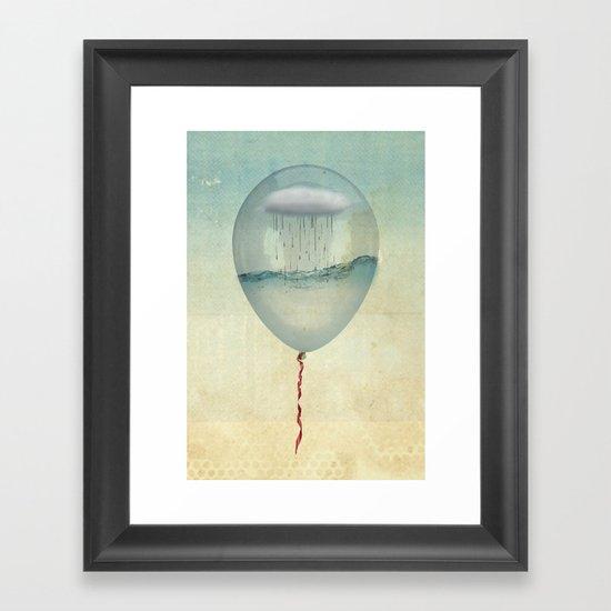 the balloon half full Framed Art Print