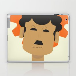 Charlie Chaplin, Modern Times, minimal movie poster, classic film, Charlot, Hollywood Laptop & iPad Skin