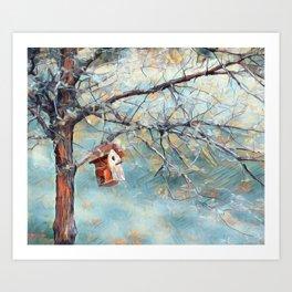A Chickadees Home Art Print