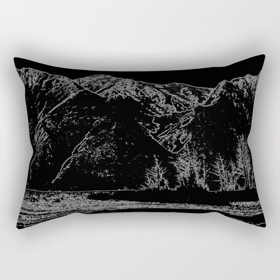 Knik River Mts. Pop Art - 4 Rectangular Pillow