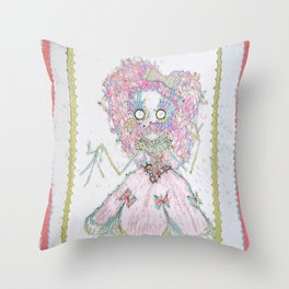 Velvetesque Dolls • Victorian Collection #3B Throw Pillow
