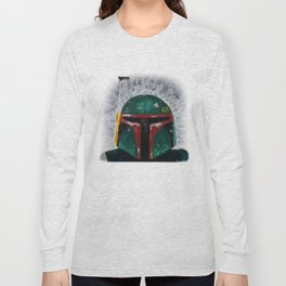 Boba Fett palette knife painting Long Sleeve T-shirt
