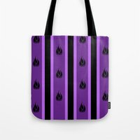 rwby Tote Bags featuring Blake Belladonna Pattern by tofudelight