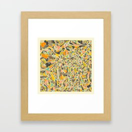 Jerusalem Map Framed Art Print