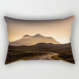 Sunset Mountain Road Rectangular Pillow