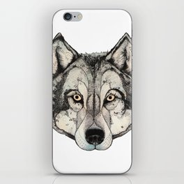 Wolf Mask iPhone Skin