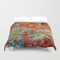 biology Duvet Covers featuring Synthetic Biology by Lennon Michalski