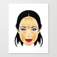 asia Canvas Prints featuring Asia by Au Courant