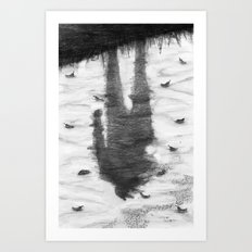 Oyster Catchers Art Print