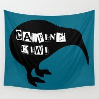 kiwi Wall Tapestries featuring KIWI Carping Kiwi by mailboxdisco