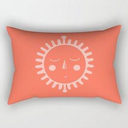 sleepy sun Rectangular Pillow