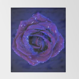 NOCTURNAL BLOSSOM Throw Blanket