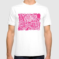 Better Surfed Out than Stressed Out MEDIUM White Mens Fitted Tee
