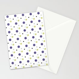 Dots - Purple Green White Stationery Cards