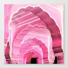 Amber Fort Jaipur Pink Mood Canvas Print