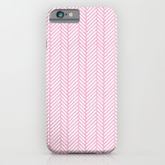 Herringbone Pink Slim Case iPhone 6s