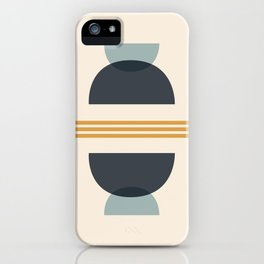 Sapphire Abstract Half Moon 2 iPhone Case