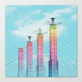 Bartle Hall in Rainbow Canvas Print