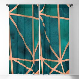 Copper & Emerald Geo Blackout Curtain