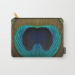 Peacock Feather Symmetry ii Carry-All Pouch