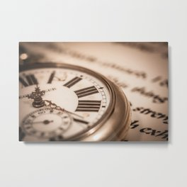 Time and Words Metal Print