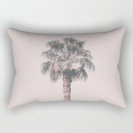 Tropical Palm Tree In Pastel Pink Light Rectangular Pillow