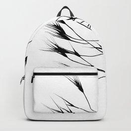 Black & white grass Backpack