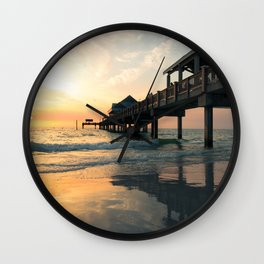 Sunset in florida Wall Clock