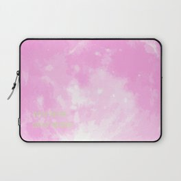 Love By The Moon Pink Laptop Sleeve