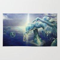 mermaids Area & Throw Rugs featuring Mermaids by Angela Schmidt Gallery