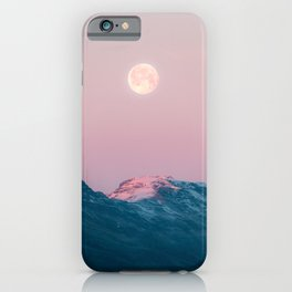 Moon and the Mountains – Landscape Photography iPhone Case