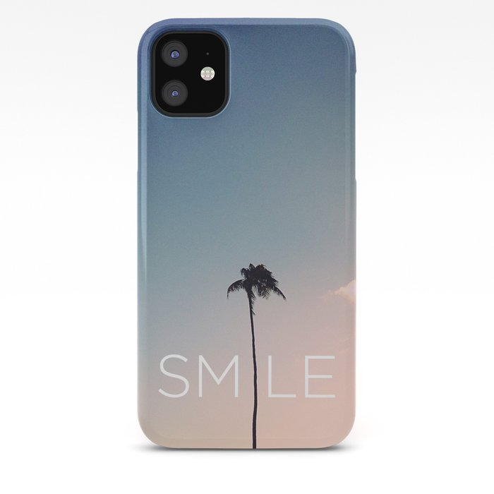 Palm Tree Smile Iphone Case By Goldfishkiss Society6