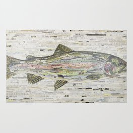 Rainbow Trout Collage (v2) by C.E. White Rug