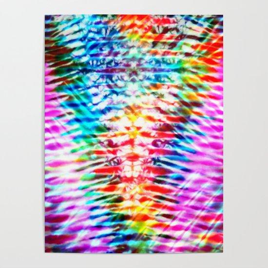 Crumpled Rainbow V Tie Dye by kirstenstar