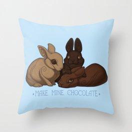 Make Mine Chocolate Throw Pillow