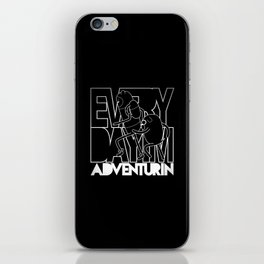 Every Day I'm Adventurin' - Light iPhone Skin